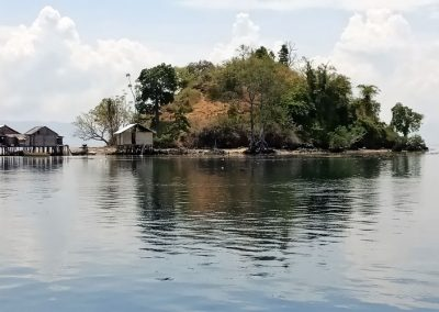 Fishermen Houses on an island in South Halmahera