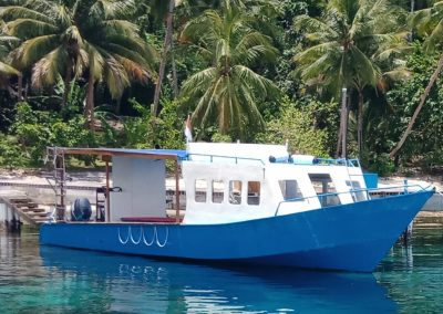 Diving Boat - Sali Bay Resort, Soth Halmahera, North Maluku